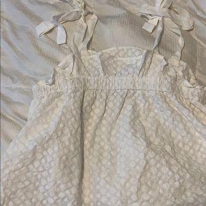 Babydoll white top